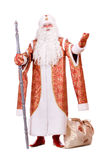 Russian Christmas character Ded Moroz. (Father Frost). Isolated on white Stock Photos
