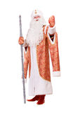 Ded Moroz with the stick in his hands Stock Photo
