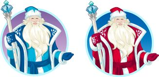 Russian Christmas Character Father Frost cartoon Stock Photography
