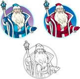 Russian Christmas Character Father Frost lineart Royalty Free Stock Images