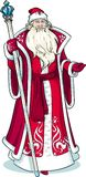 Russian Christmas Character Father Frost in red Stock Photography
