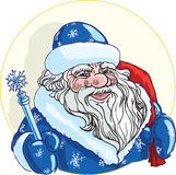 Russian Christmas characters Ded Moroz Stock Photos