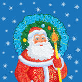 Russian Christmas and New Year Father Frost. Royalty Free Stock Photography
