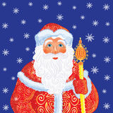 Russian Christmas and New Year Father Frost. Stock Image