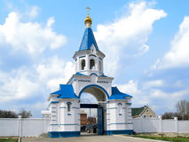 Russian church 01. Female monastery in the south of Russia Royalty Free Stock Photos
