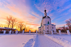 Russian church. View of russian church at sunset Stock Image