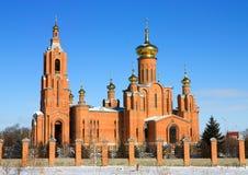Russian church. In city Mineralnye Vody, Northern Caucasus, Russia stock photo