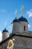 Russian church. At evening rays of light Royalty Free Stock Photography