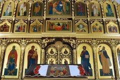 Russian church. Interior of Russian Orthodox Catholic Church royalty free stock photography