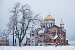 Russian church. Russian man's monastery in the city of Perm Royalty Free Stock Images