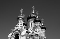 Russian church. Beautiful church in Nice, France Stock Image