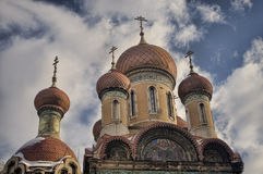 Russian church in Bucharest Stock Photos