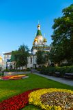 The Russian church in the centre of Sofia city Stock Photos