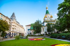 The Russian church in the centre of Sofia city Stock Photo