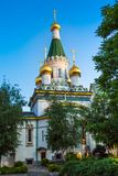 The Russian church in the centre of Sofia city Stock Photography