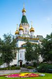 The Russian church in the centre of Sofia city Royalty Free Stock Images