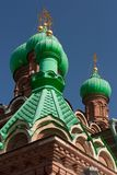 Russian Church domes Stock Images