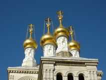 Russian church in Geneva, Switzerland Stock Photography