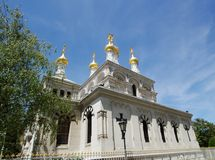 Russian church, Geneva, Switzerland Royalty Free Stock Image