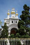 Russian church, Geneva, Switzerland Stock Image