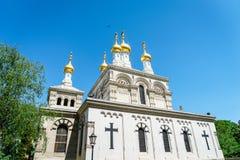 Russian church, Geneva, Switzerland Stock Photography