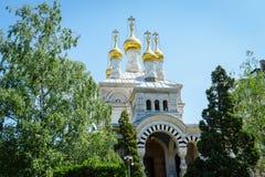 Russian church, Geneva, Switzerland Royalty Free Stock Image