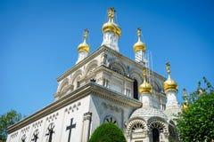 Russian church, Geneva, Switzerland Stock Photos