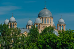 The Russian Church. With Golden domes Royalty Free Stock Photography
