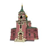 Russian Church. Isolated on white background. 3D render Royalty Free Stock Photos