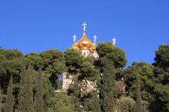 Russian church in Jerusalem. Royalty Free Stock Photos