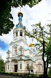 Russian Church in Karlovy vary. Church of st. Peter and Paul in Karlovy vary, czech republic stock photo