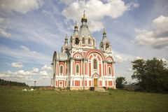 Russian Church. In the Middle of the field stock photography