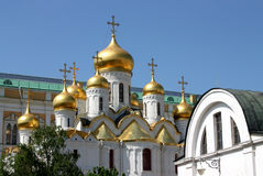 Russian church in Moscow. Royalty Free Stock Photos