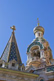 Russian Church in Nice Stock Image