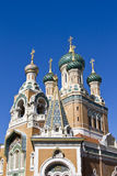 Russian Church in Nice. The Russian Orthodox Cathedral of Saint-Nicolas de Nice is a national monument of France, located in the city of Nice, French Riviera Stock Photography