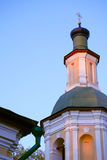 Russian Church. Nice Russian Christianity church against blue sky at sunset Royalty Free Stock Photo