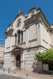 Russian Church in Nice. Facade of St. Nicholas and St. Alexandra Orthodox Church, Nice, France Stock Image