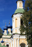 Russian Church. Nice old Russian Christianity church against blue sky at autumn. Nikolo-Rozjok Church Stock Images