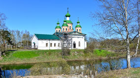 Russian church. Olonec. Russia. Karelia.  Smolensk church on the island of Mariam in nice summer day Stock Photography