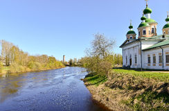 Russian church. Olonec. Russia. Karelia.  Smolensk church on the island of Mariam in nice summer day Royalty Free Stock Photography