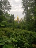 Russian church in pure nature stock photo
