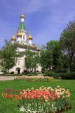 Russian church Saint Nicholas the Wonderworker in Sofia Royalty Free Stock Photo