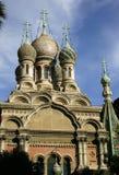 Russian Church in Sanremo. On the Italian Riveria Stock Photo