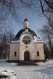 Russian church in snow Royalty Free Stock Photos
