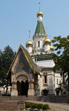 Russian church in Sofia. The Russian church in the centre of Sofia city, capital of Bulgaria royalty free stock photo