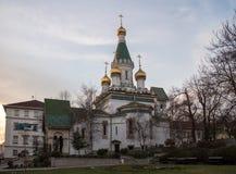 Russian Church in Sofia. The Russian Church Saint Nikolay in Sofia, Bulgaria stock image