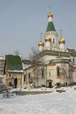 Russian church in Sofia Stock Photography