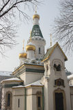 Russian church in Sofia Royalty Free Stock Image
