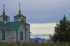 Russian Church. At Soldotna in Alaska Royalty Free Stock Photo