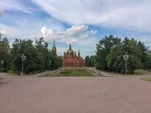 Russian church South Ural Chelyabinsk stock photography